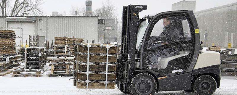 نگهداری صحیح لیفتراک در فصل زمستان