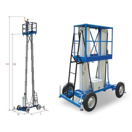 بالابر نفربر هیدرولیکی دو دکله چرخ خودرویی
